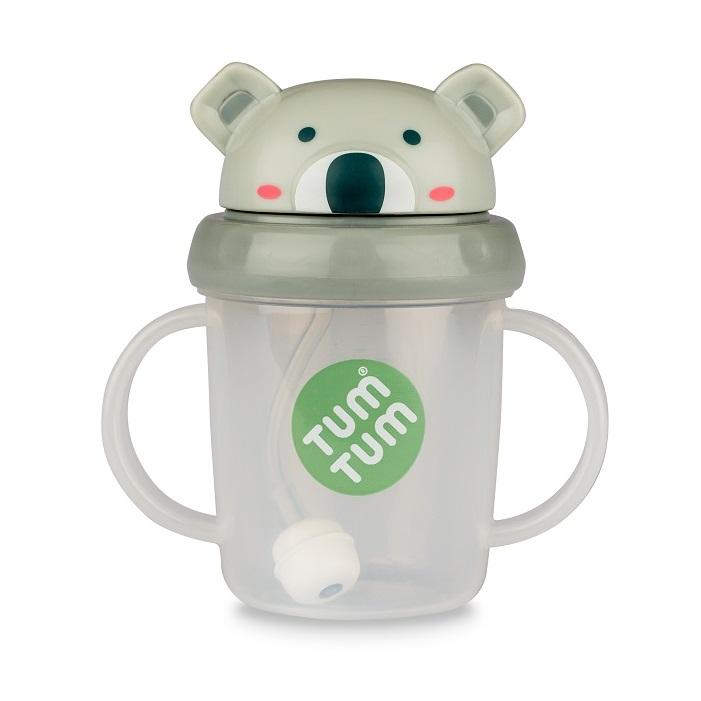 Tasse anti fuite + paille lestée Koala