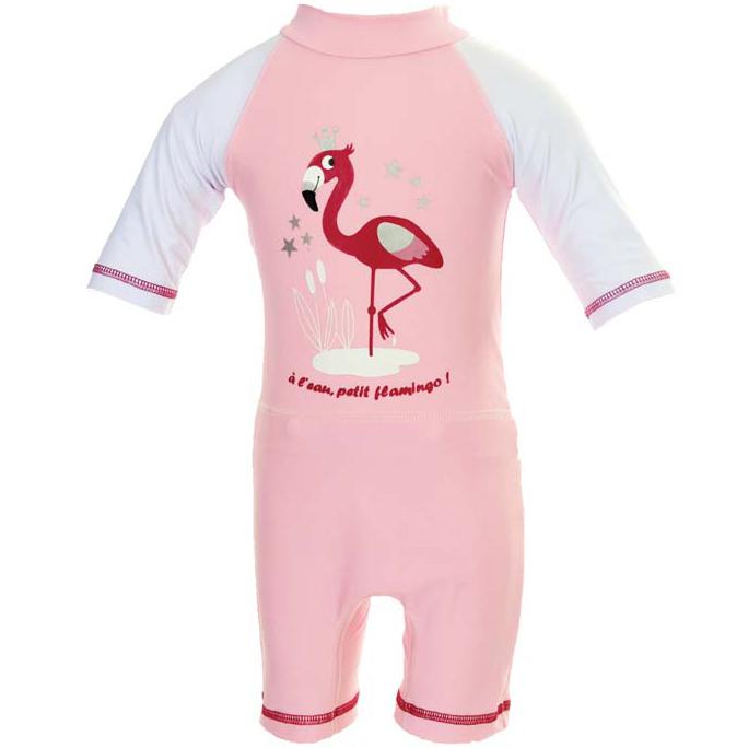 combinaison couche anti uv et anti sable flamingo rose p le piwapee maman natur 39 elle. Black Bedroom Furniture Sets. Home Design Ideas