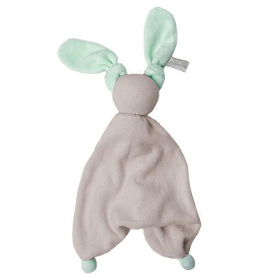 Doudou Floppy Silver grey/fresh mint HOPPA
