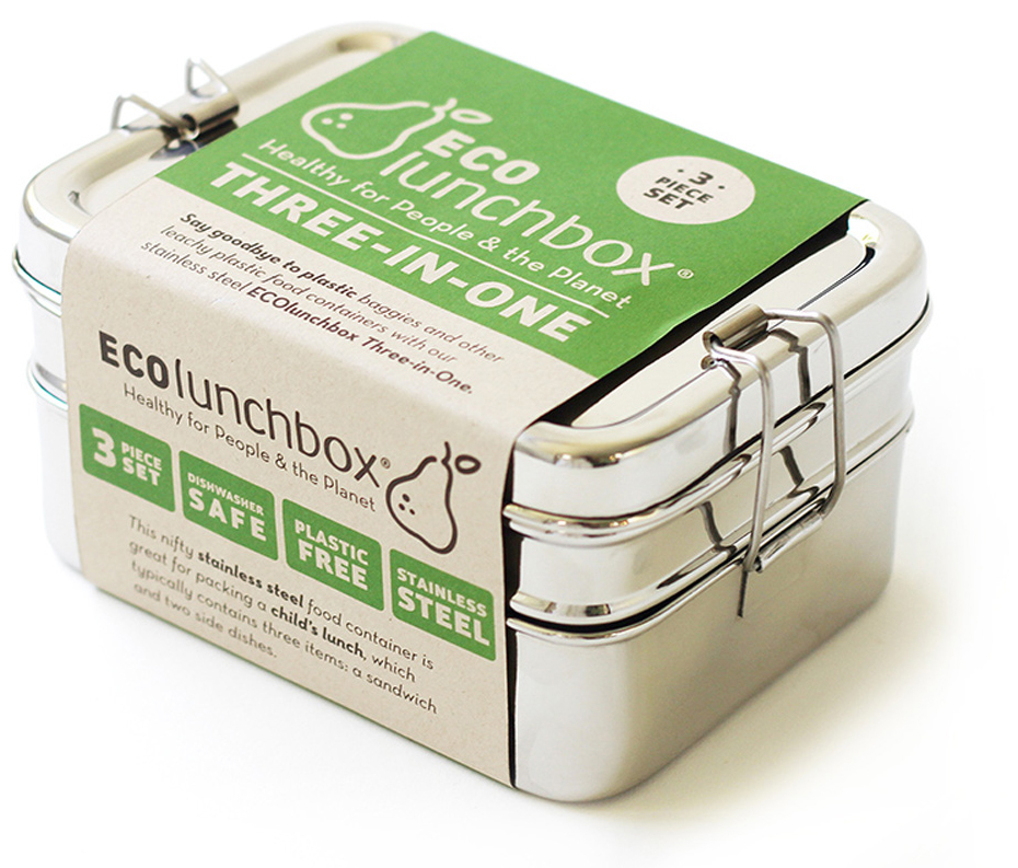 Lunch Box Inox 3 en 1 - ECOLUNCHBOX