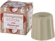 Shampoing solide cheveux secs Vanille et Coco