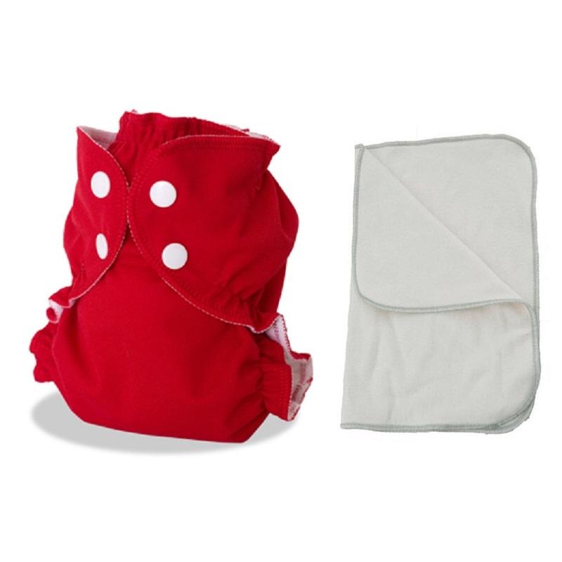Kit couche lavable  - ENFANT - Taille 3 (14-30kg) -  Tomate Cerise