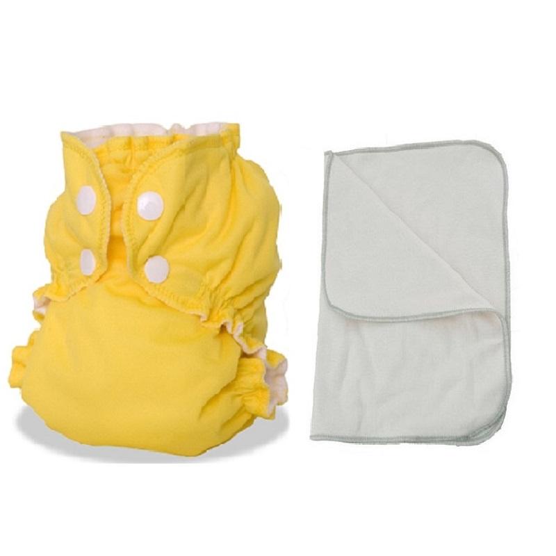 Kit couche lavable  - ENFANT - Taille 3 (14-30kg) -  Zeste de Citron