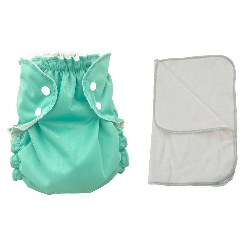 Kit couche lavable  - ENFANT - Taille 3 (14-30kg) -  Pacifically Riptide