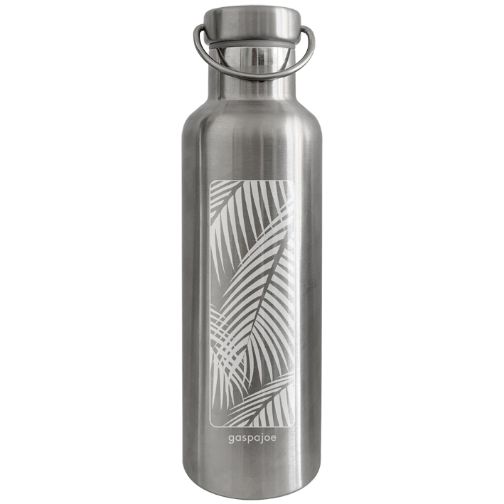 Gourde en inox 750 ml collection Groovy gravée Palmier
