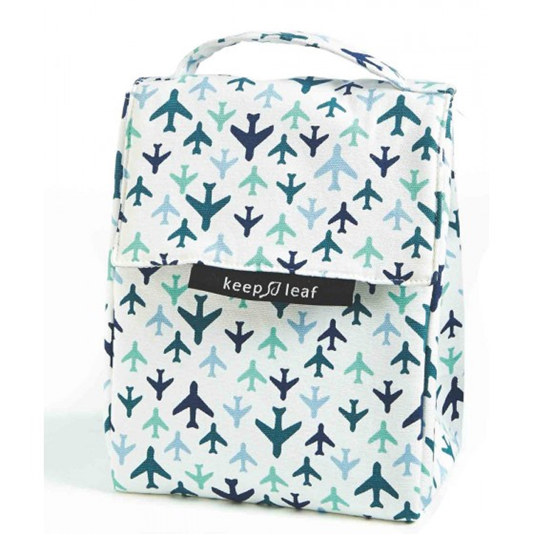 Lunch Bag isotherme en coton bio - Avions