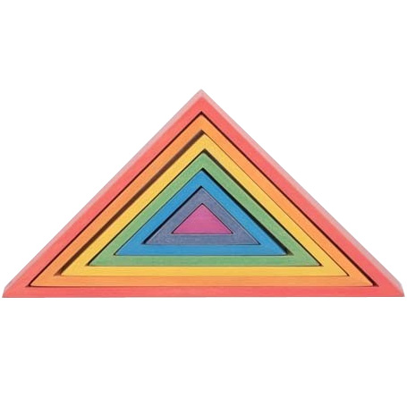 Triangles en bois Arc En Ciel