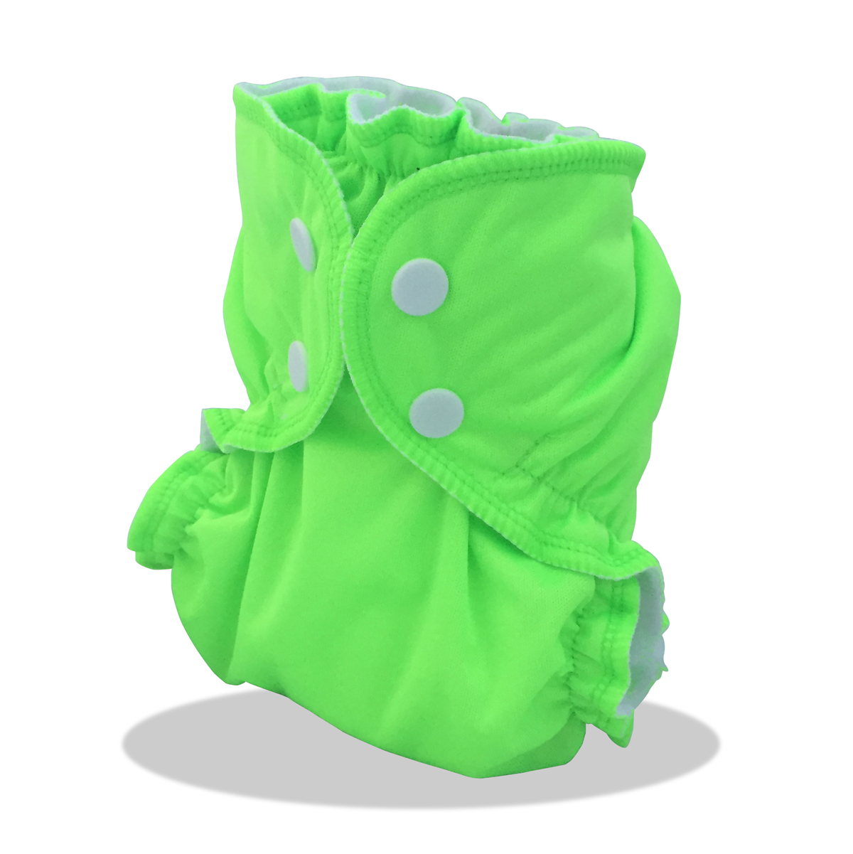 Couche lavable APPLECHEEKS FLUO VERT - Multi-taille