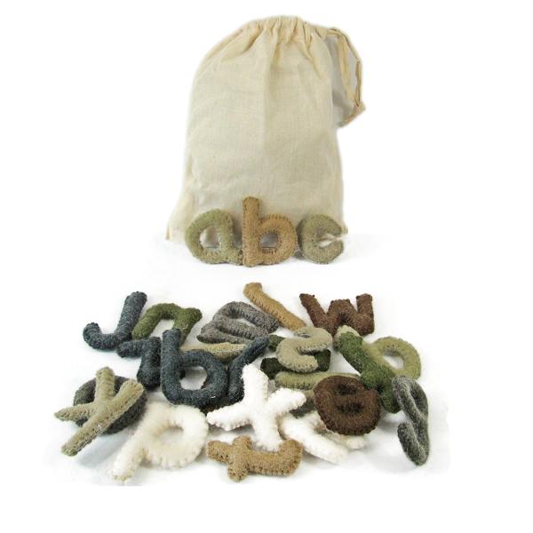 Alphabet en laine feutrée - les minuscules