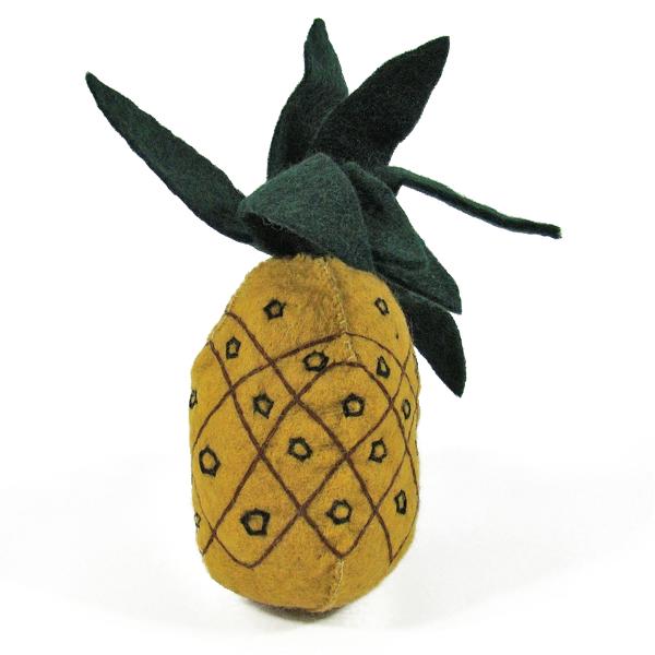 Fruit en laine feutrée - Ananas