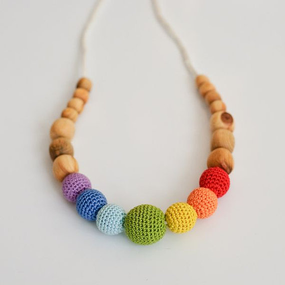 Collier d'allaitement et de portage Simple Rainbow Gen�vrier - KC004