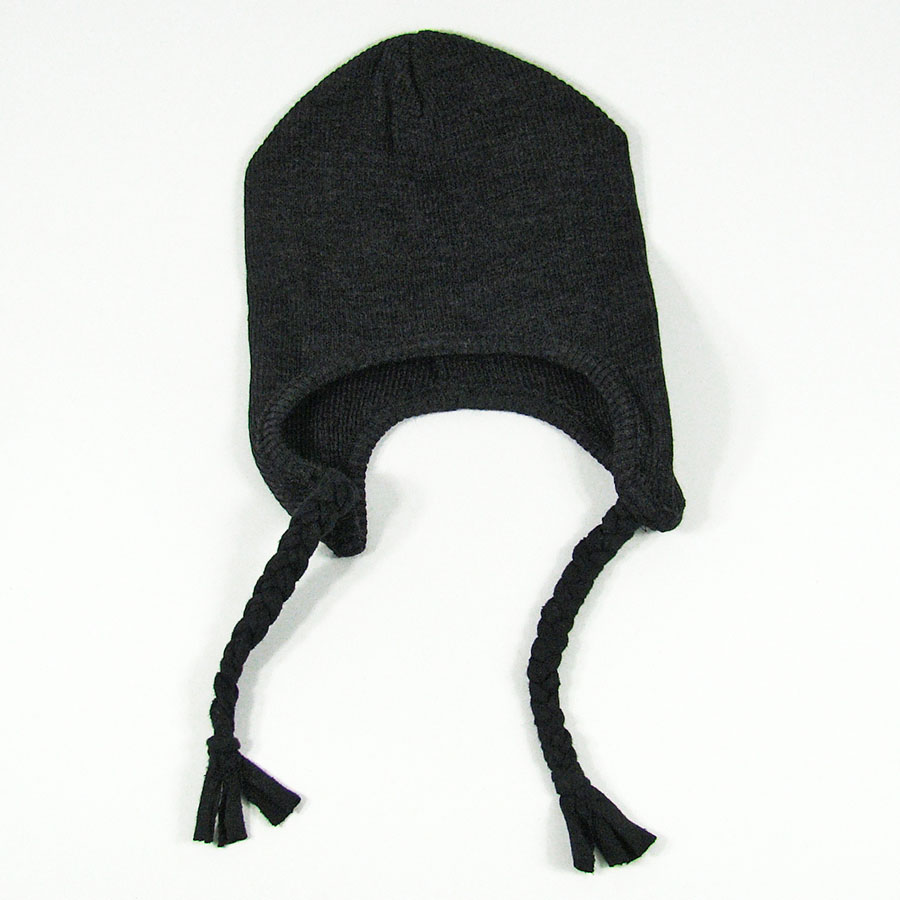 Bonnet ajustable en pure laine mérinos Foggy Black