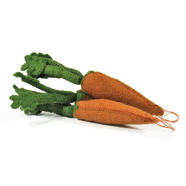 Légumes en laine feutrée - 3 carottes