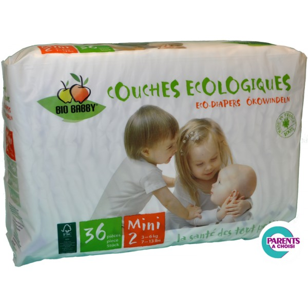 Couches jetables cologiques bio babby taille mini 3 6kg couches jetables cologiques - Couches ecologiques jetables ...