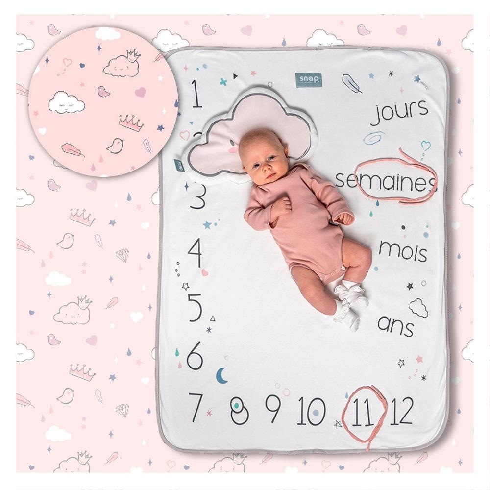 Couverture étape bébé 100% coton Dusty pink