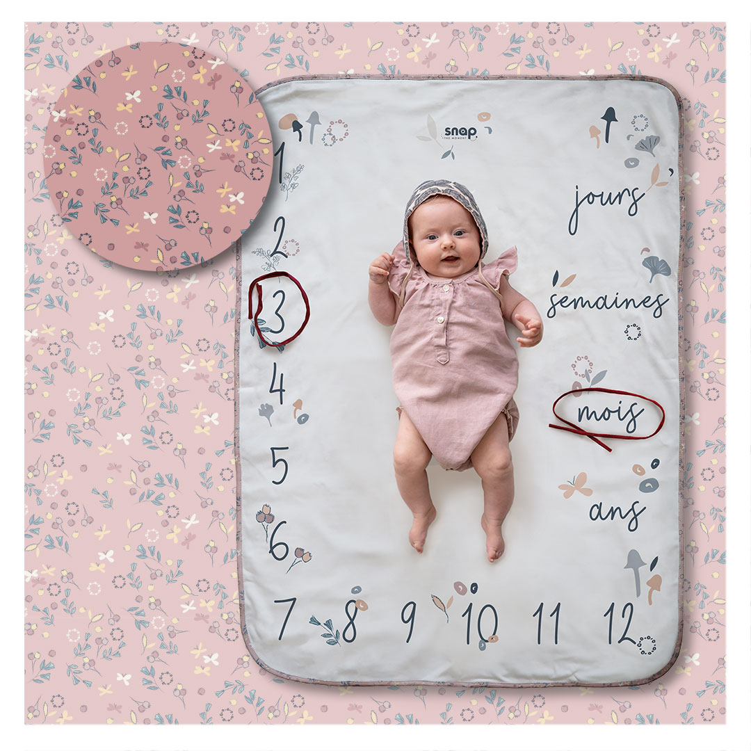 Couverture étape bébé 100% coton Flora
