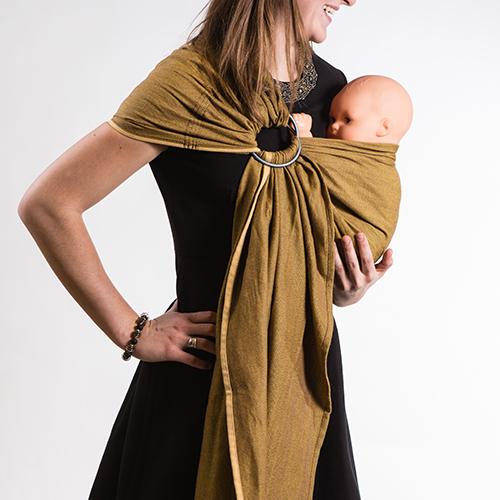 Portebébé NEO SLING Jaune Miel NEOBULLE Maman Naturelle - Porte bébé sling
