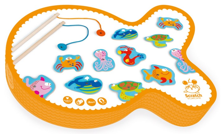 Jeu de pêche Poissons amusants Orange