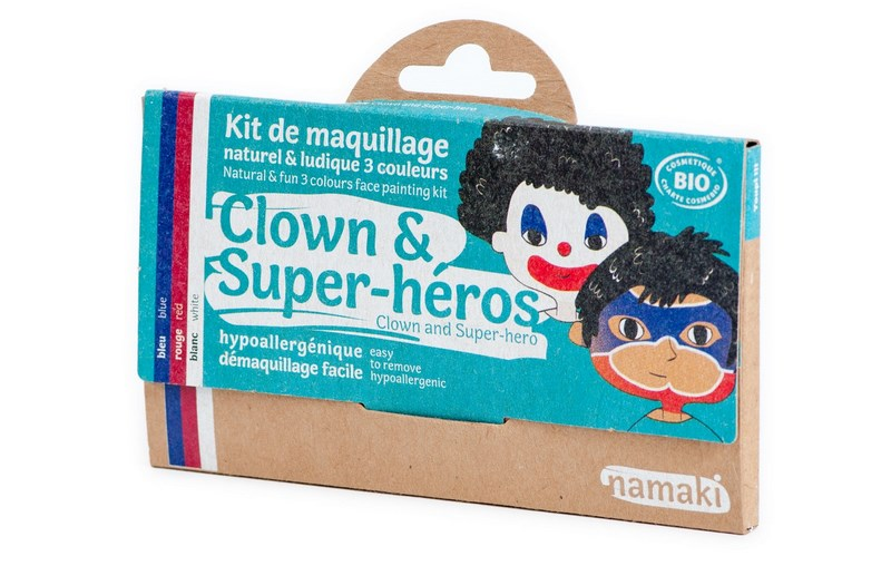Kit de Maquillage 3 couleurs Clown et Super-héros NAMAKI