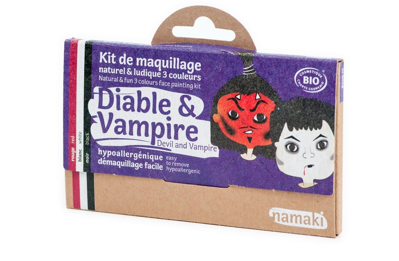 Kit de Maquillage 3 couleurs Diable et Vampire