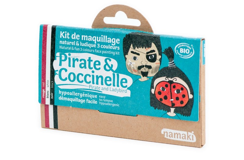 Kit de Maquillage 3 couleurs Pirate et Coccinelle NAMAKI