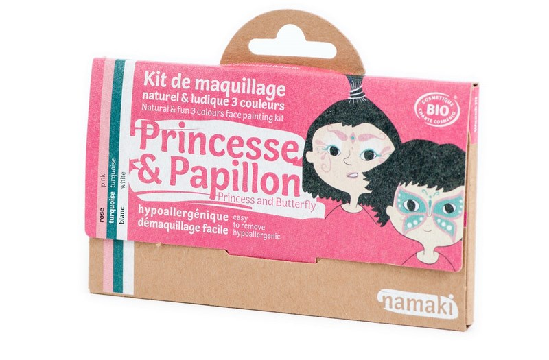 Kit de Maquillage 3 couleurs Princesse et Papillon NAMAKI