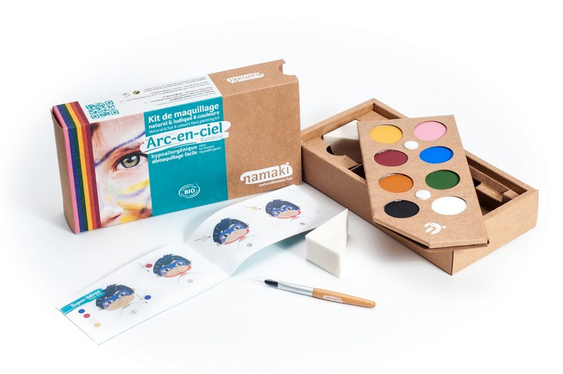 Kit de Maquillage 8 couleurs Arc-en-ciel NAMAKI