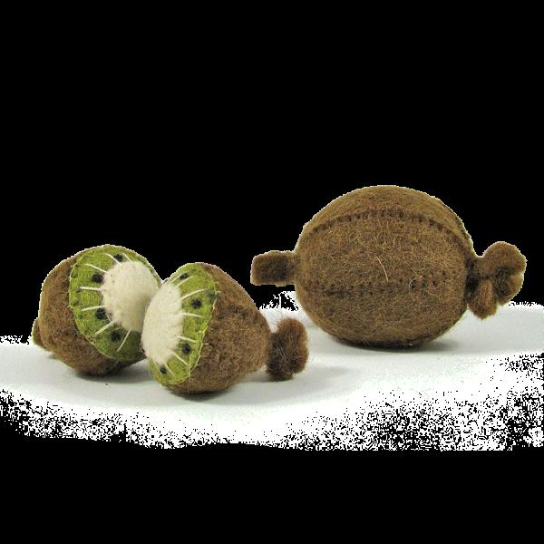 Fruits en laine feutrée - 3 kiwis