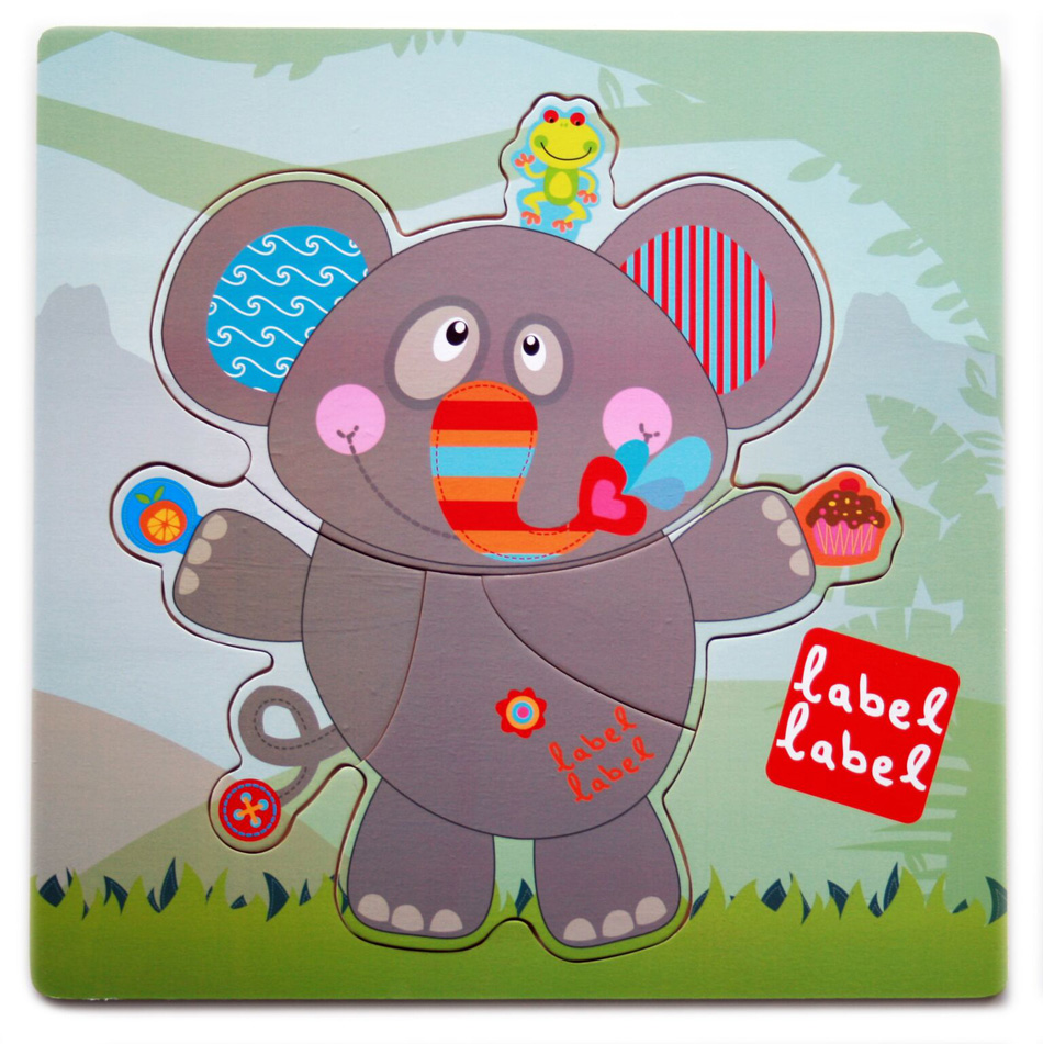Puzzle Friends El�phant LABEL LABEL 4 �l�ments