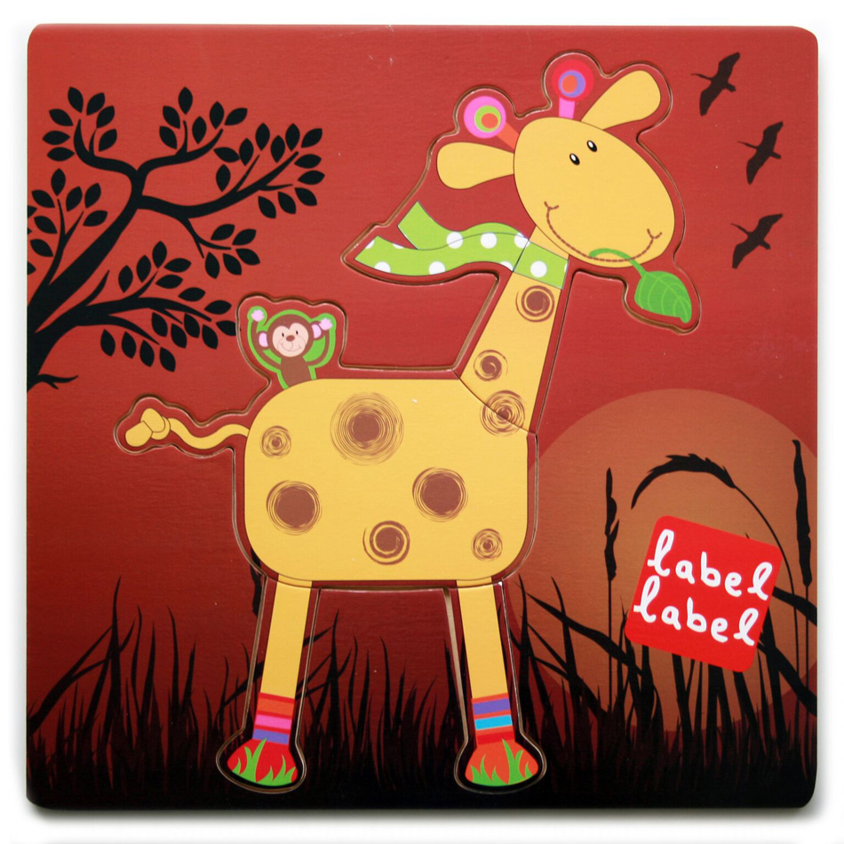 Puzzle Friends Girafe LABEL LABEL 4 éléments