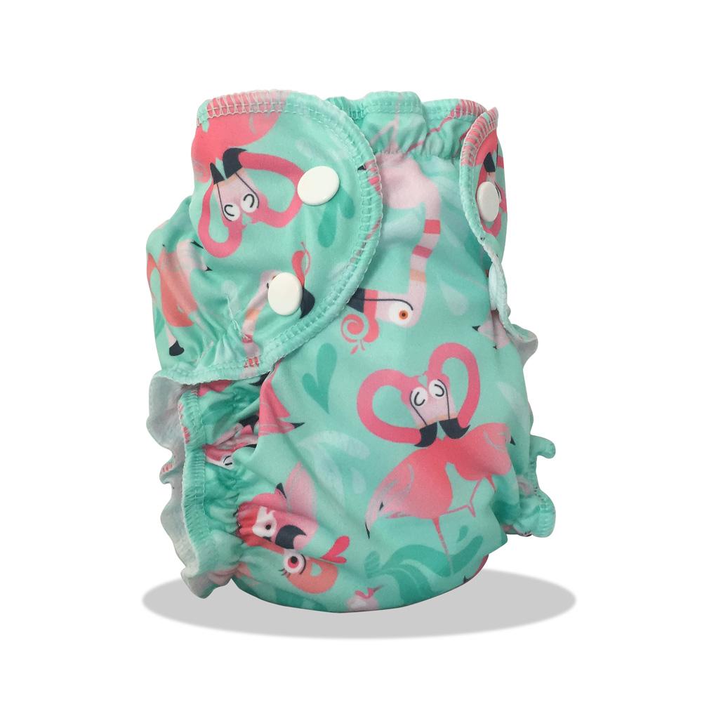 maillot de bain lavable flamant rose applecheeks maman natur 39 elle. Black Bedroom Furniture Sets. Home Design Ideas