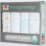 Pack 4 Maxi Langes coton THIS WAY WEEGOAMIGO