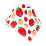Bavoir Bandana Strawberry fields en blanc