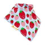 Bavoir Bandana FUNKY GIRAFFE Strawberry fields en bleu