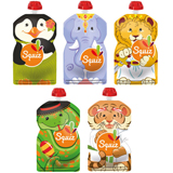 Lot de 5 Gourdes souples SQUIZ Carnaval