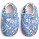 Chaussons souples bébé Foxy on blue