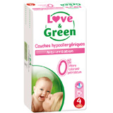 JUMBO Couches jetables écologiques Love & Green Taille 4 MAXI 7-14kg