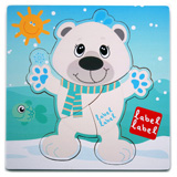 Puzzle Friends Ours polaire LABEL LABEL 4 �l�ments