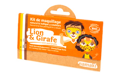 Kit de Maquillage 3 couleurs Lion et Girafe