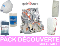 PACK DECOUVERTE couches lavables multi-taille APLLECHEEKS