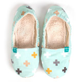 Chaussons souples maman Swiss Cross Mint TITOT