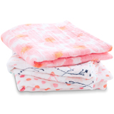 Lot de 3 petits Langes en mousseline de coton PETAL BLOOM aden + anais