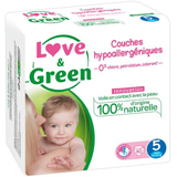 JUMBO Couches jetables écologiques Love & Green Taille 5 JUNIOR 12-25kg