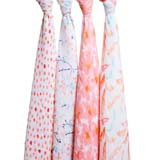 Coffret 4 Maxi langes coton PETAL BLOOM aden + anais