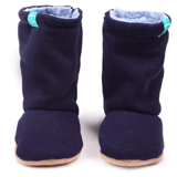 Bottines souples bébé Navy