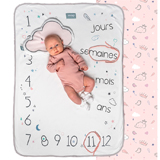 Couverture 2 en 1 Photobooth 100% coton Dusty pink