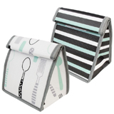Lot de 2 Lunch Bags réutilisables - Aqua et Black