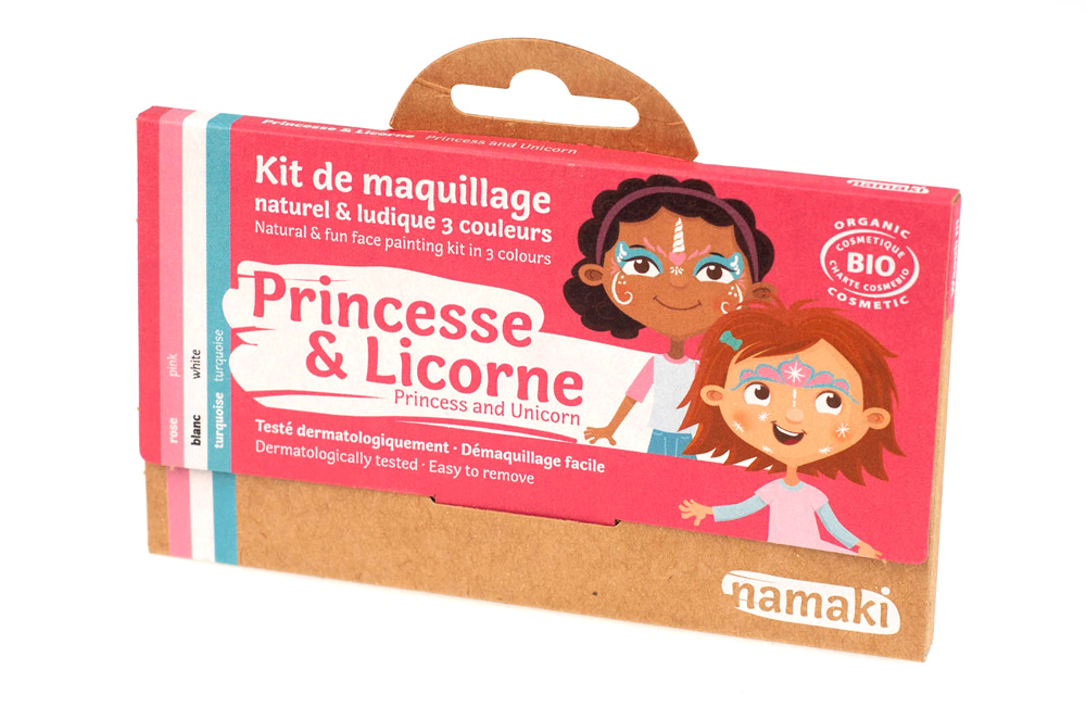 Kit de Maquillage 3 couleurs Princesse et Licorne NAMAKI
