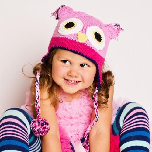 Bonnet en crochet HUGGALUGS Hiboux
