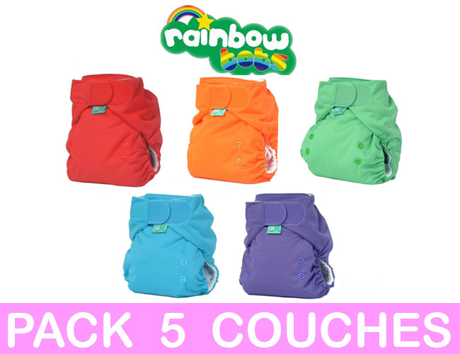 MINI PACK 5 COUCHES LAVABLES TE1 Easyfit STAR Taille Unique TOTS BOTS